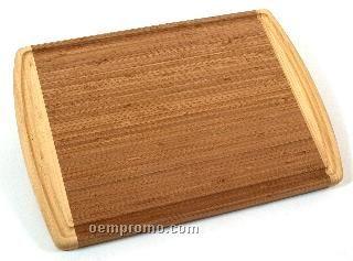 Bamboo Kona Grooved Reversible 2-tone Cutting Board
