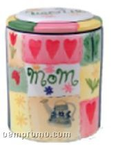 Mom Regular Ceramic Cookie Keeper Jar (Custom Lid)