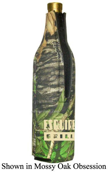 Mossy Oak Licensed Camo Premium Collapsible Foam Wine Suit Bottles