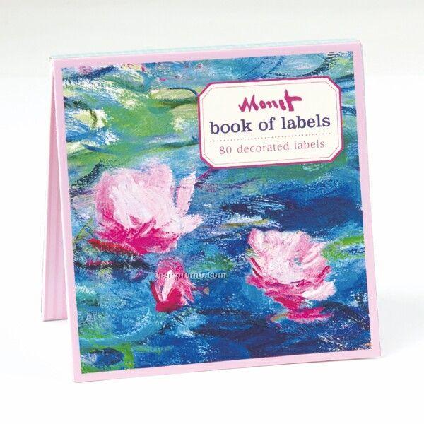 Monet Waterlilies Book Of Labels