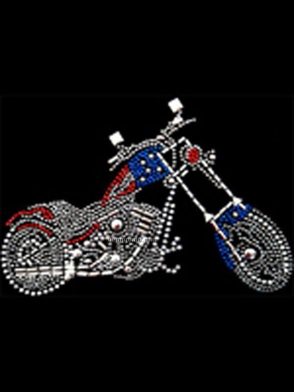 Motorcycle Rhinestone Transfer