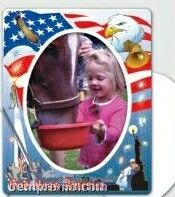 Patriotic Theme Picture Frame Magnets
