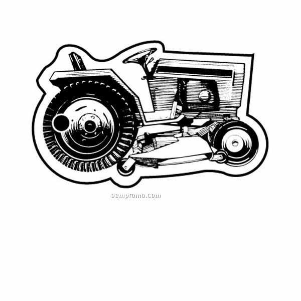 Stock Shape Collection Tractor Mower 4 Key Tag