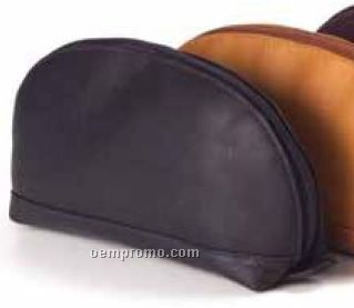 Clamshell Accessory Pouch - Vachetta Leather