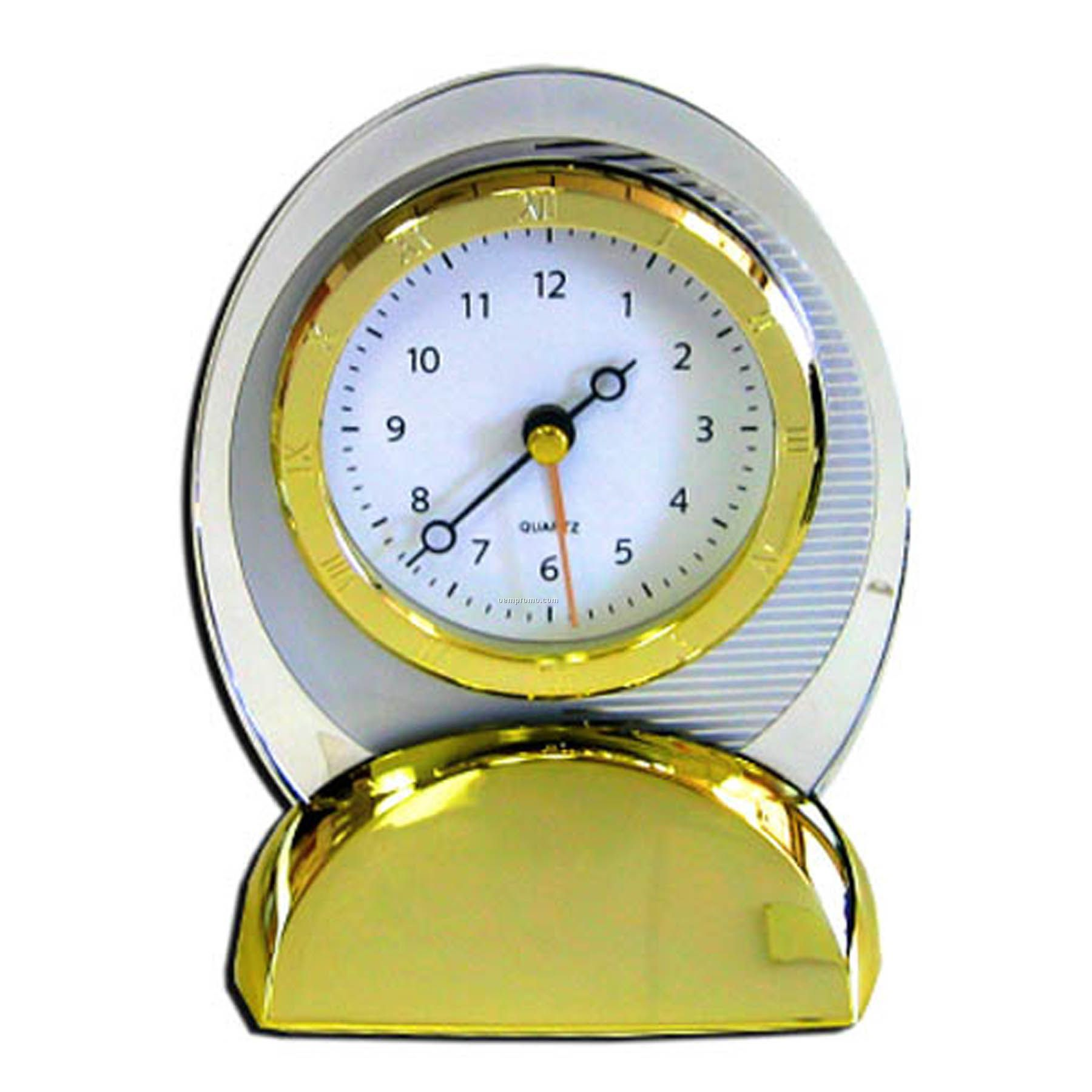 Oval Quartz Movement Alarm Clock With Sweep Second Hand