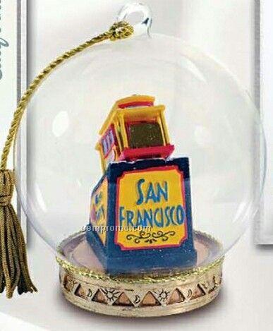 San Francisco Cable Car Memory Globe