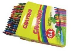 64 Piece Pack Non Toxic Children's Crayons