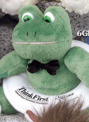 Gb Brite Plush Beanie Stuffed Green Frog