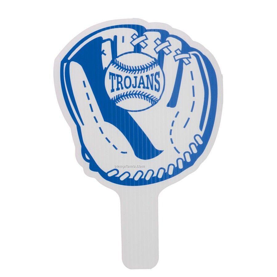 """Standard 8""""X12"""" Hand Fan - Baseball Glove"""