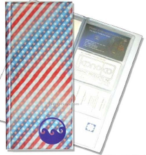 128 Card 3d Lenticular Business Card File - Stock (Stars & Stripes)