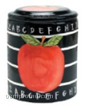 Abc Apple Regular Ceramic Cookie Keeper Jar (Custom Lid)