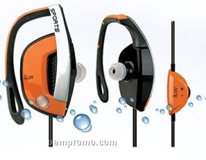 Iluv Sweat Proof In-ear Sports Ear Clip With In-line Volume Control