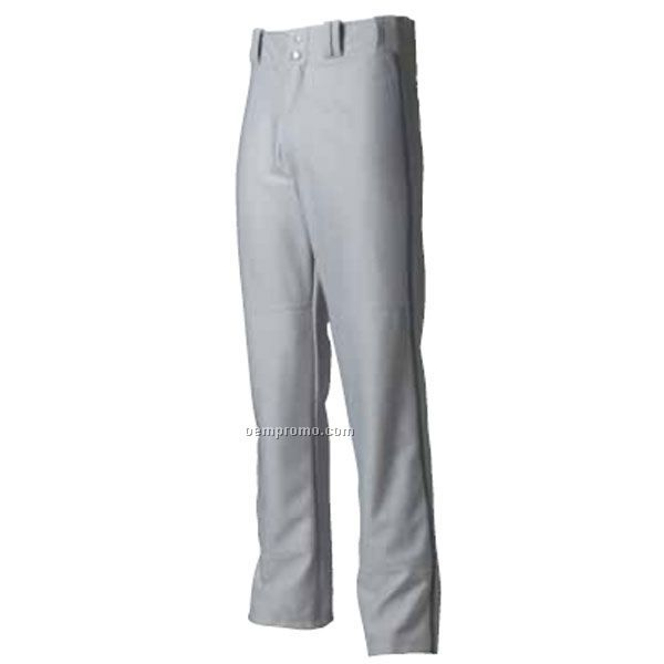 N6162 Pro Style Open Bottom Baggy Cut Men's Baseball Pant