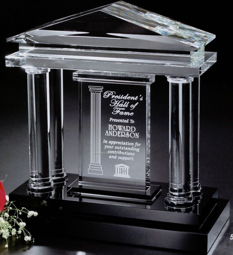 "Signature Gallery Crystal Parthenon Award (12""X12 3/4""X6"")"