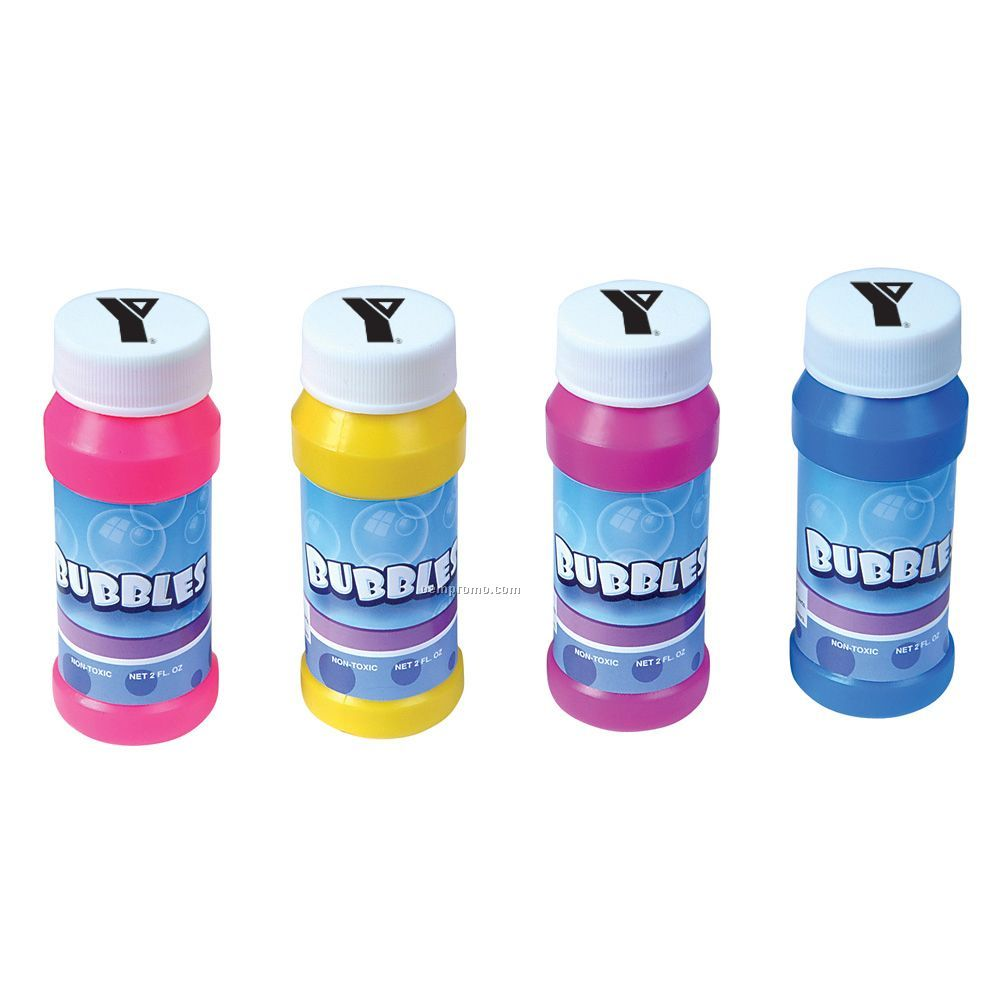 Bubble Bottle 2 Oz With Blower Wand- Blank Unimprinted