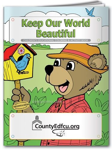 Fun Pack Coloring Book W/ Crayons - Keep Our World Beautiful