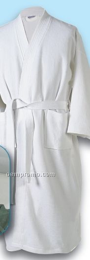Most Popular Colored One Size Fits All Kimono Style Robe White