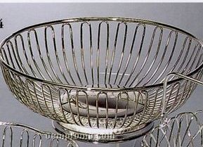 Round Lacquered Wire Fruit Basket