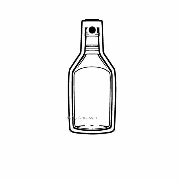 Stock Shape Collection Bottle 11 W/ Labeled Front Key Tag