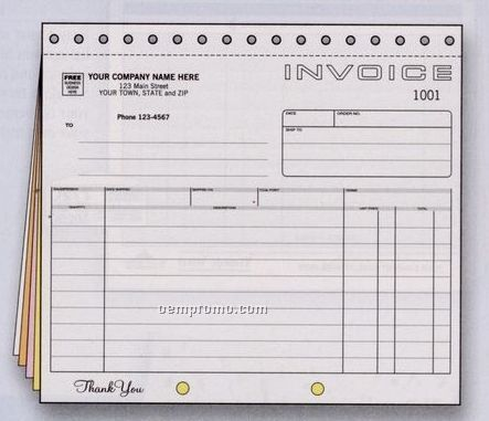 Classic Collection Small Invoice (5 Part)