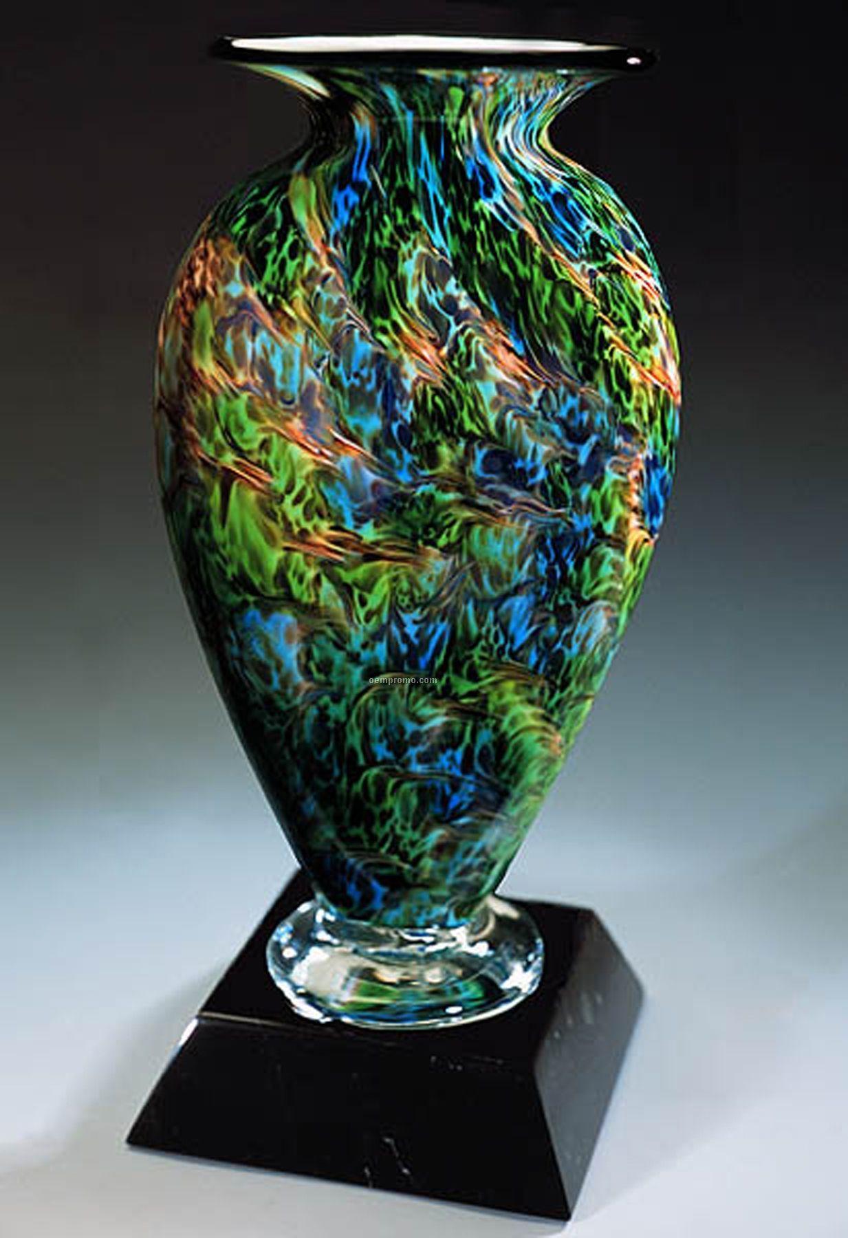 """Jade Glen Mercury Sculpture Award W/ Marble Base (6.5""""X13.5"""")"""