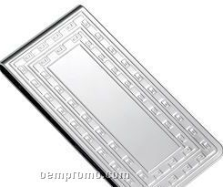Metal Chrome Plated Money Clip With Die Stamp Pattern