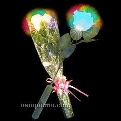 White Light Up Rose W/ Color Changing LED