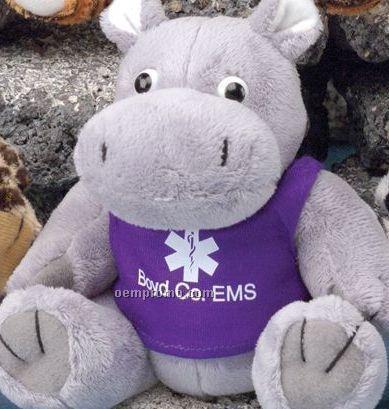 Gb Brite Plush Beanie Stuffed Gray Hippo