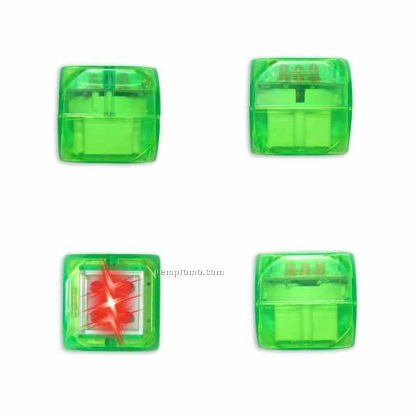 Green Light Up Dice W/ Sound & Red LED