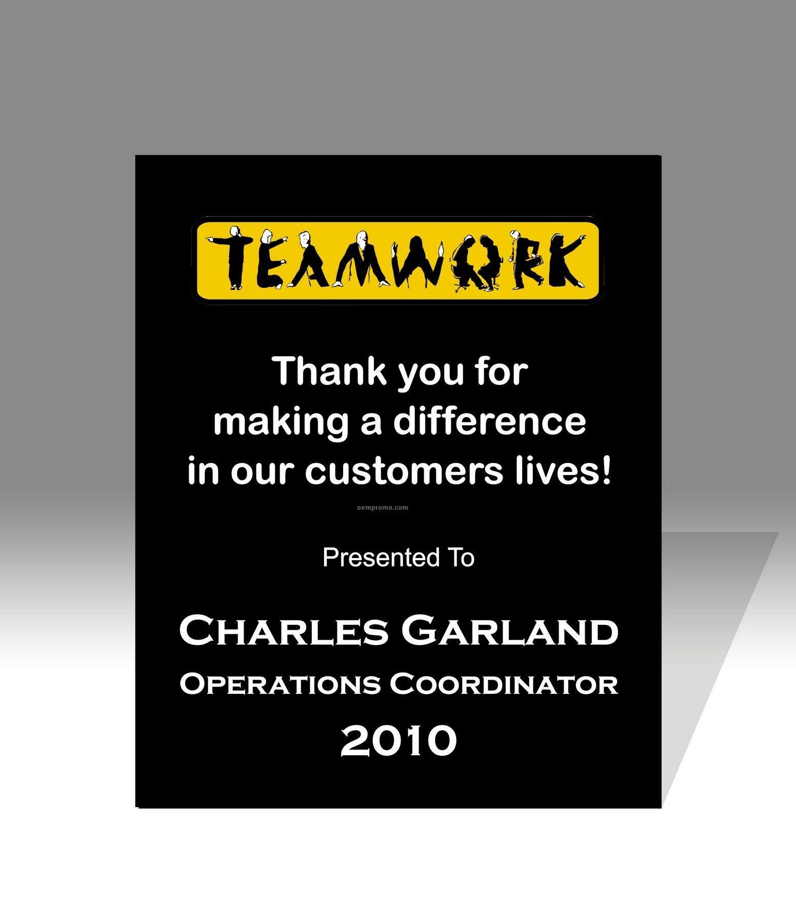 Teamwork Create A Plaque