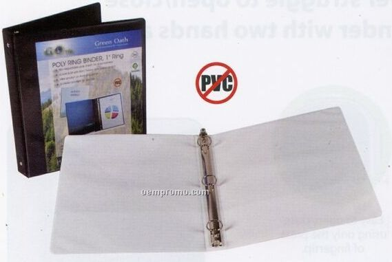 "White 5/8"" Ring Binder With Spine View Pocket"