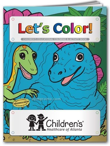 Fun Pack Coloring Book W/ Crayons - Let's Color With Donald Dinosaur
