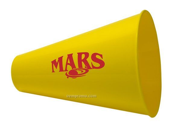 """Plastic Megaphone With Built-in Mouthpiece (7 1/2"""")"""