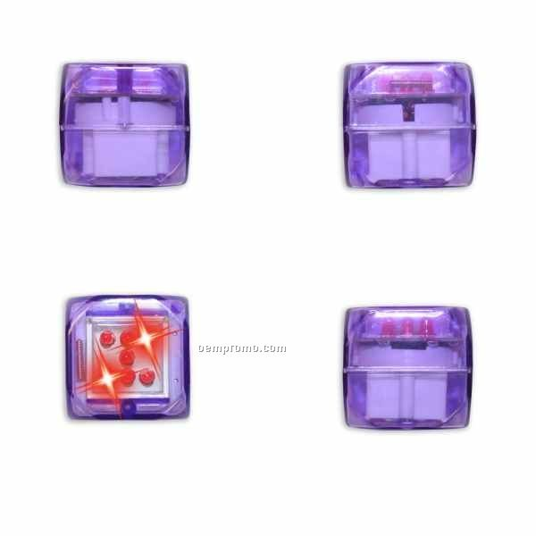 Purple Light Up Dice W/ Sound & Red LED
