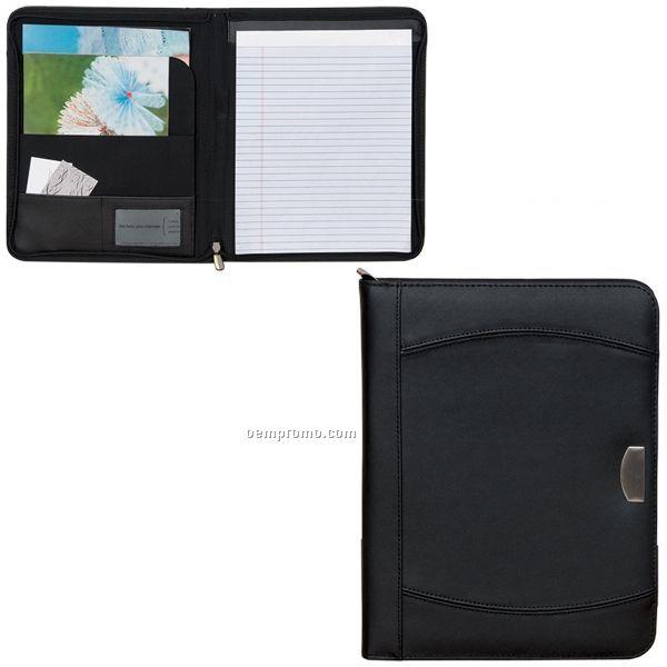 "Zippered Notebook Portfolio (9.75""X12.5""X1"") (Blank)"