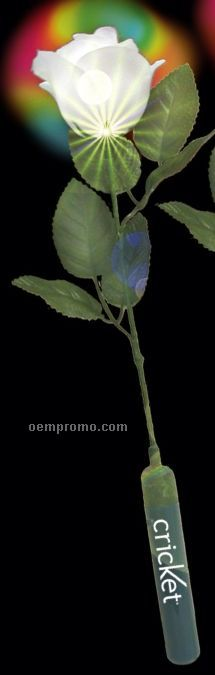 """14"""" White Light-up Silk Roses"""