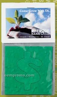 Bud Pop-out Floral Seed Paper Card - Dollar Sign