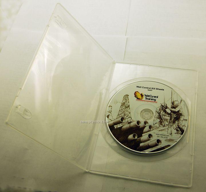 DVD Replication In Clear Slim Amaray Case (DVD 5)
