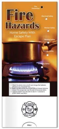 Fire Hazards & Escape Plans - Pocket Slider Chart/ Brochure