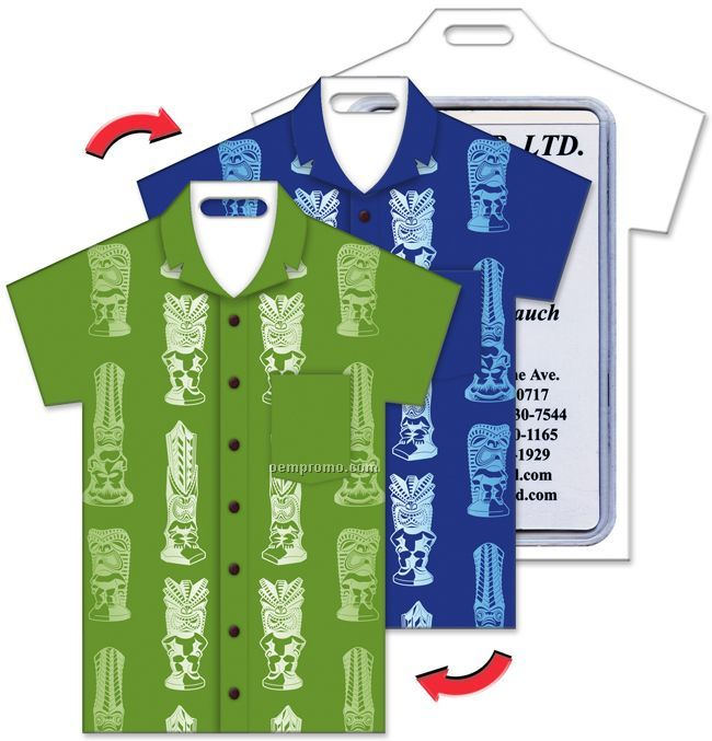 Luggage tag t shirt shape tiki heads stock design blank for T shirt tags wholesale