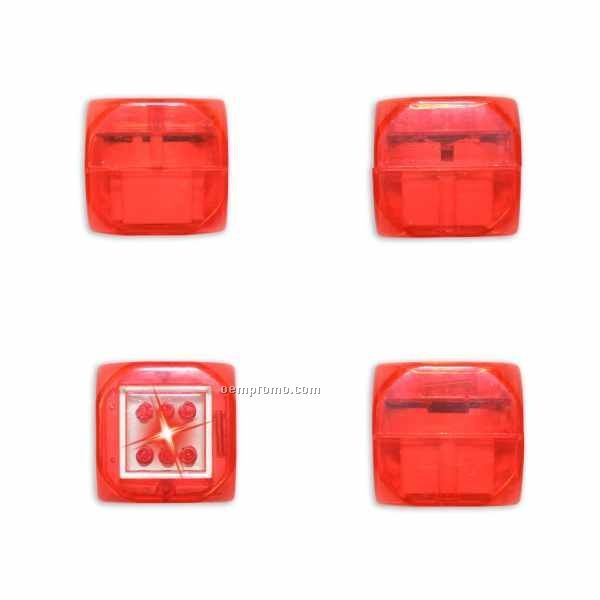 Red Light Up Dice W/ Sound & Red LED