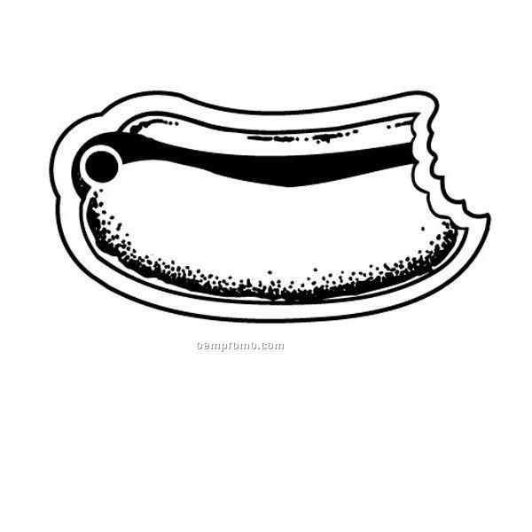 Stock Shape Collection Hot Dog W/ Bite Taken Key Tag