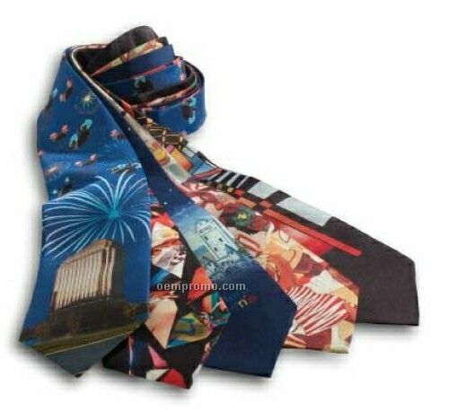 Wolfmark Custom Four Color Process Tie - Polyester