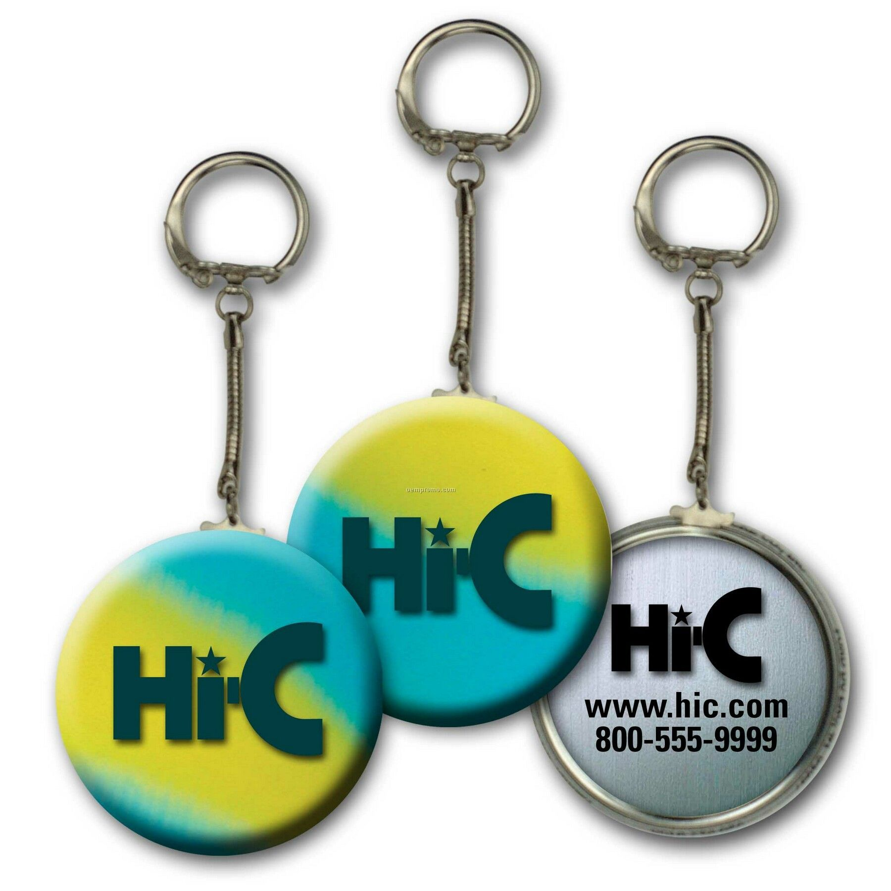 Metallic Key Chain W/3d Lenticular Changing Colors Effects ( Custom)