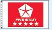 Standard Single Face Dealer Logo Spacewalker Flag (Five Star Red)