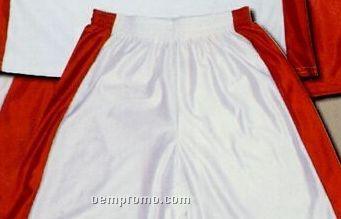 Unisex Stock Dazzle Basketball Shorts W/ Panels