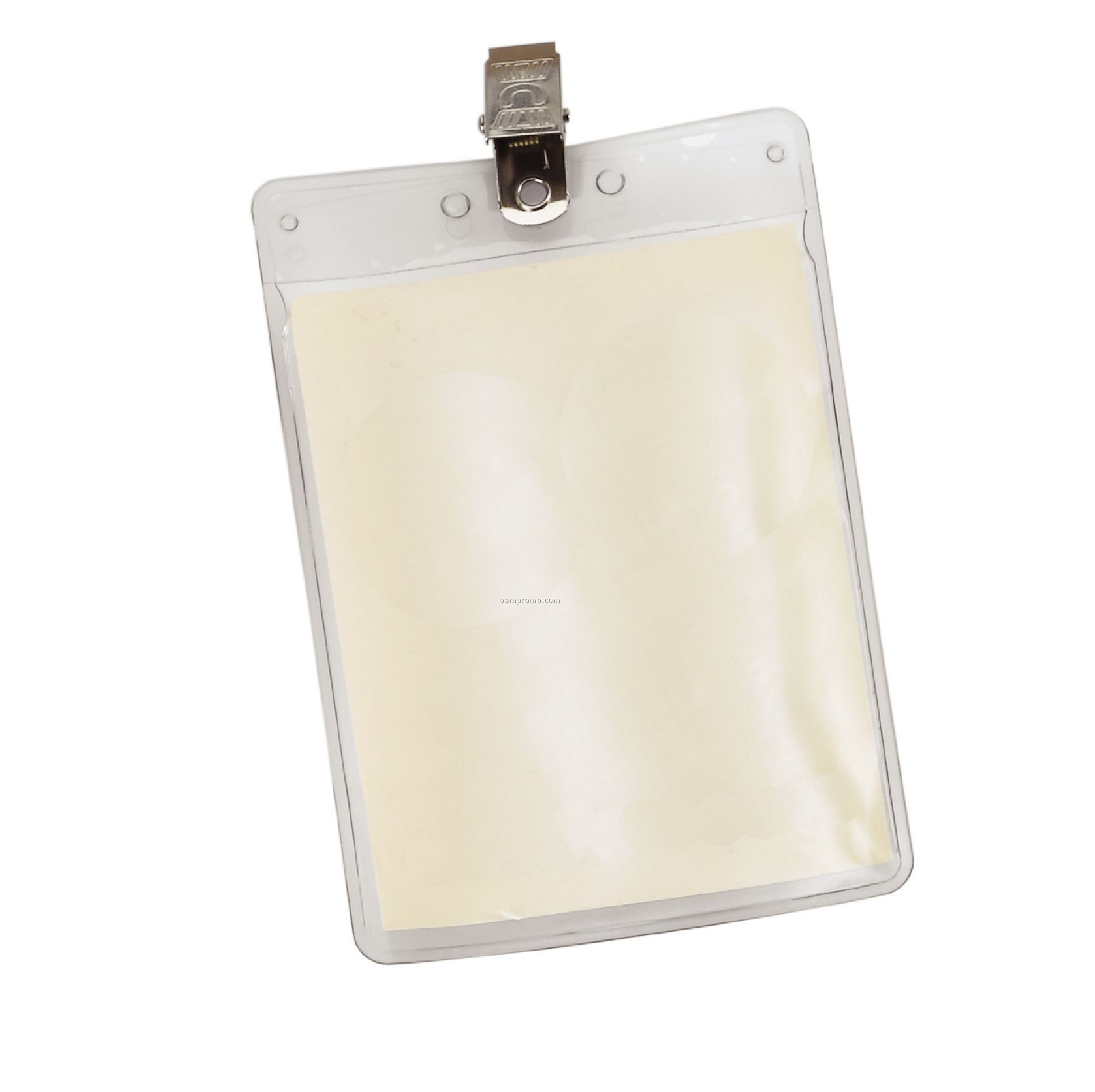 Vertical Vinyl Pouch With Bulldog Clip