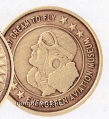 """1-15/16"""" Bright Bronze 10 Ga. Die Struck Coins & Medallions"""