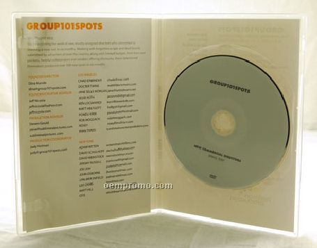 DVD Replication Retail In Clear Slim Amaray Case 2 Panel 4/0 Insert (DVD 5)