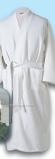 Economical One Size Fits All Waffle Weave Robe
